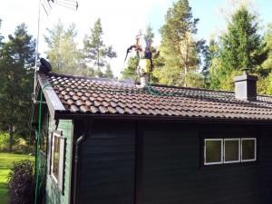 ta bort mossa på tak